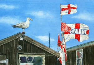<strong>Flags at Aldeburgh</strong>