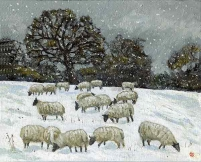 <strong>Sheep in snow' Henley II</strong>