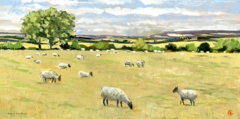 <strong>Sheep in landscape near Ewelme</strong>