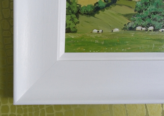 <strong>Close up of modern white frame</strong>