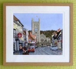 Hart Street Henley in Winter Sun' framed