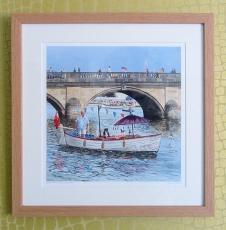 River idyll' Henley - framed