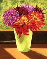 <strong>Dahlias in sunshine</strong>