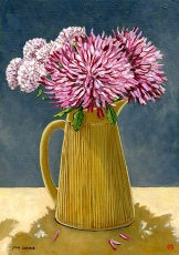 <strong>Chrysanthemums in an ochre jug</strong>