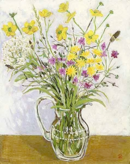 <strong>Wild flowers in a glass vase</strong>
